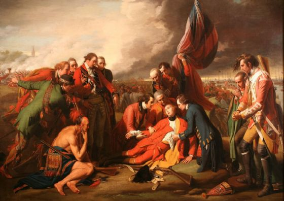 West, Benjamin: The Death of General Wolfe. War/Historical Fine Art Print/Poster. Sizes: A4/A3/A2/A1 (00111)